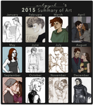 2015 Summary of Art by artgyrl