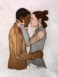 dont let it go away [finn x rey] by artgyrl