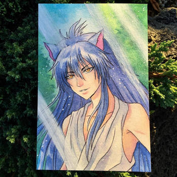 Yoko Kurama Watercolor by Hedemi