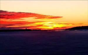 March Evening Sundown In The Archipelago by eskile