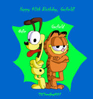 Garfield - Garfield and Odie by TXToonGuy1037
