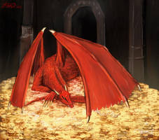 Smaug by Schtain