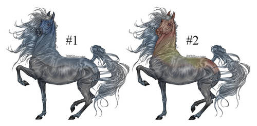 Mountaintop Equine Adopts [2/2 open - 80 points] by RestlessInferno