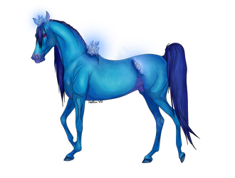 Sapphire Crystal Horse Adopt [closed] by RestlessInferno