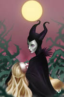 Maleficent's Curse by Meeshell-Art