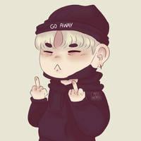 Go Away / Suga BTS Fanart by MissWeirdoArt