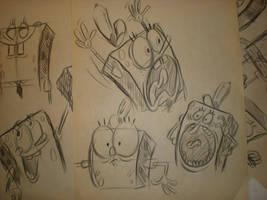 SPONGEBOB sketches! by brianpitt
