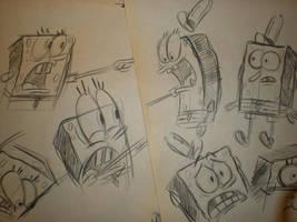 SPONGEBOB sketches! 002 by brianpitt
