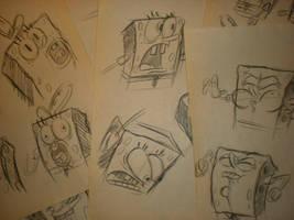 SPONGEBOB sketches! 003 by brianpitt