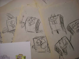 SPONGEBOB sketches! 004 by brianpitt