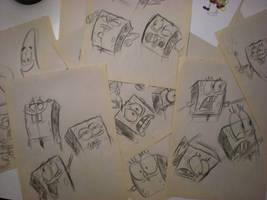 SPONGEBOB sketches! 005 by brianpitt