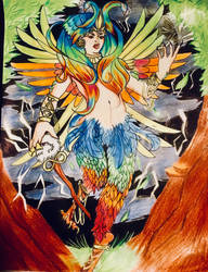 The harpy queen of the storms: finished  by paos8832
