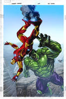 Ironman + Hulk by aburtov
