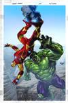 Ironman + Hulk by aburtov
