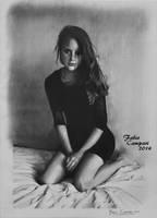 Lana del Rey - Pencil on paper, 24x33 cm by Camparbio