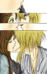 Sarah and Jareth Cute kiss by Aniyumex