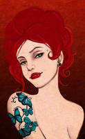 Butterfly lady III by ulush