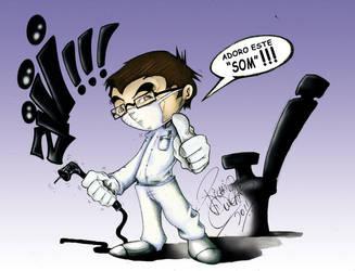 My dentist and friend Dr. John Francis by NECROGODMETAL