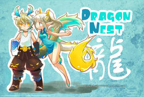 ::DragonNest:: 2012postcard 1/2 collab with Tenko by ZiyoLing