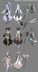 DragonNest Costume design-sorceress by ZiyoLing