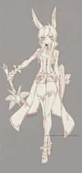 :DragonNest:Yoka female-lineart by ZiyoLing
