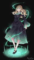 COMMISSION Emerald Wizard by MellowNite