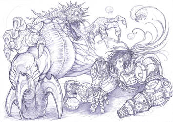 Samus vs mother brain, Super Metroid. by Omegachaino