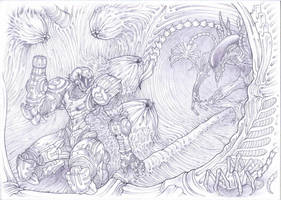 Super metroid, space jockey ship, aliens by Omegachaino