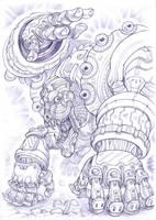 Spark Mandrill, Mega Man X. by Omegachaino