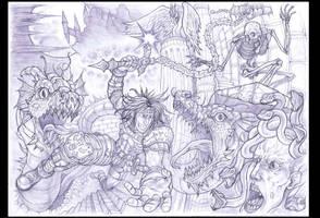 Super Castlevania 4, cover remake. by Omegachaino