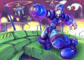 Mega Man X, Highway by Omegachaino