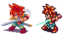 ChronoTrigger, Crono,Pixel Upgrade. by Omegachaino