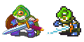ChronoTrigger, Frog,Pixel Upgrade. by Omegachaino