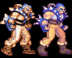 Dolg, Captain Commando, Pixel Upgrade. by Omegachaino