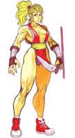 Maki, Final Fight sketch by Omegachaino