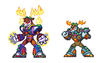 Mega Man X 2, Flame Stag ver02 by Omegachaino