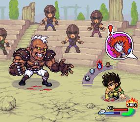 Seiya vs Cassius, RPG mockup by Omegachaino