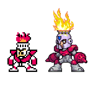 Fire Man, MegaMan, Nes by Omegachaino