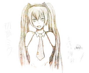 Hatsune Miku [sketch] by Roberto-Miak