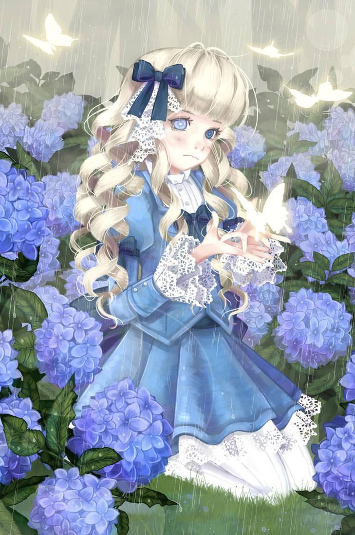 Hydrangeas by TwilitFaerie