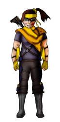 EndiKombat - Samantha [Character Concept Sketch] by HarveyStudios