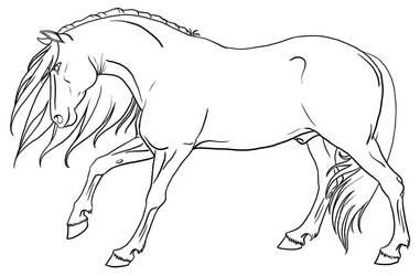 Stallion Lineart by urilium
