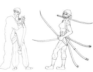 Sesshomaru and Zoro Cosplay - Line by imaginationhaven