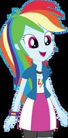 Vector - EqG Rainbow Dash by SketchMCreations