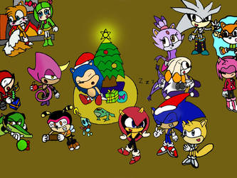 Sonic Christmas 2012 by jules1998