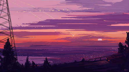My city from the nearest mountain. by Worldevour