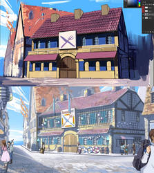 Wip - Fairy Tail Hargeon Restaurant by Worldevour