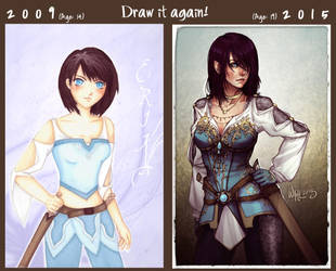 Draw it Again! Erika by DreamerWhit