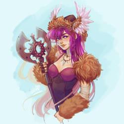 #Drawthisinyourstyle Rosa the Magical Viking girl by DreamerWhit