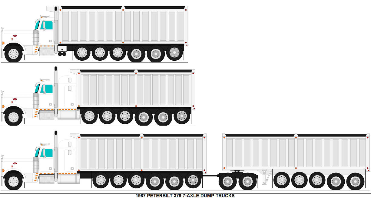 Peterbilt 379 7 Axle Dump Trucks By MisterPSYCHOPATH3001